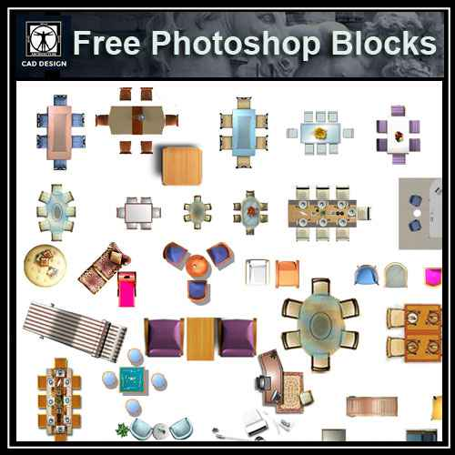 Free Photoshop Psd Desk Blocks 2 Free Download Architectural Cad Drawings