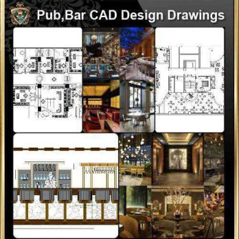 ★【Pub,Bar,Restaurant CAD Design Drawings】@Pub,Bar,Restaurant,Store design-Autocad Blocks,Drawings,CAD Details,Elevation