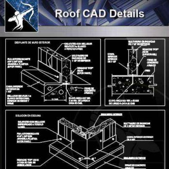 【Architecture CAD Details Collections】Roof CAD Details V.2